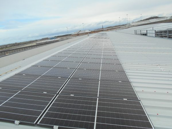 Q Cells solar panels on a roof