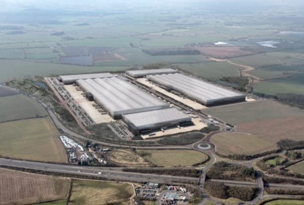 Aerial view of the new Jaguar Land Rover Global Parts Logistics Centre, which Unipart has won a five-year contract to win