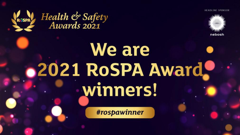 RoSPA health and safety awards 2021 logo