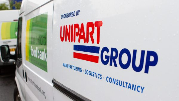 Unipart Oxford Food Bank van