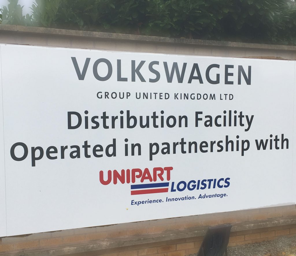 2018 – Unipart and Volkswagen sign 5 year contract