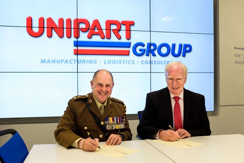 2018 – Unipart signs Armed Forces Covenant