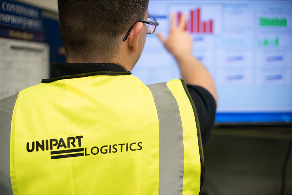Unipart Logistics hi vis digital comms cell 2019