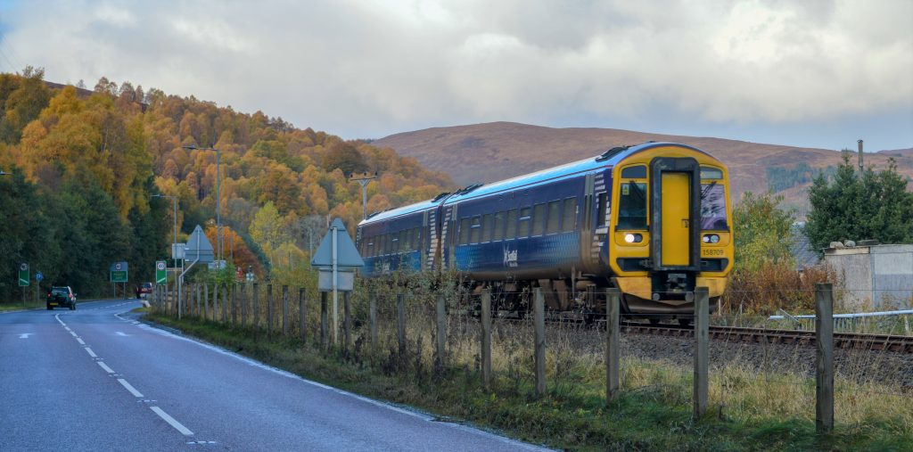 Scotrail train, a Comms Design customer.