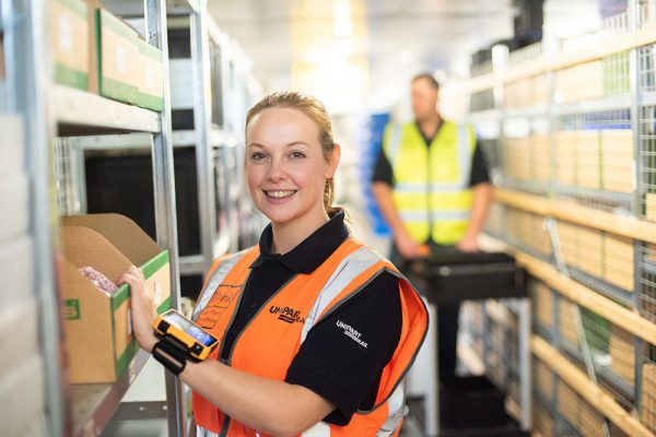 Employee in the Crewe Service Centre of Unipart Rail, who achieved a five star safety accreditation for occupational health.