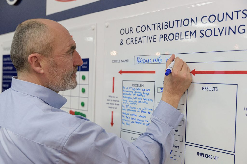 Unipart employee using the Unipart Way to improve environmental sustainability.