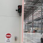 Safety sensors installed by Unipart Logistics at the Jaguar Land Rover Battery Assembly Centre