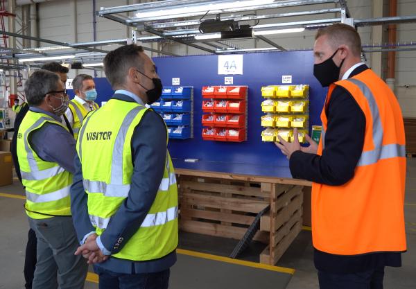 Prenetics CEO EMEA Avi Lasarow visits the new test fulfilment operations
